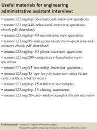 Resume Samples For Executive Assistant by Top 8 Engineering Administrative Assistant Resume Samples