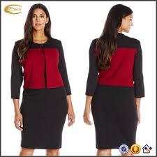 oem wholesaler plus size long sleeve 2 piece jacket formal office