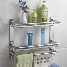Metal Bathroom Shelves Mttuzk Diy Bathroom Shelves 304 Stainless Steel Layer