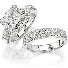 platinum wedding ring sets k platinum halo engagement ring setting and wedding band set