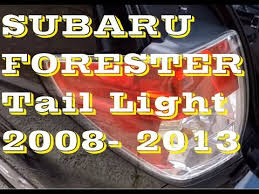 subaru forester tail light bulb how to replace tail light bulbs in subaru forester 08 13 youtube