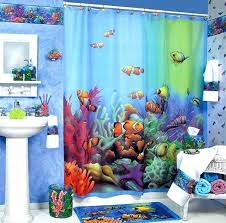Themed Fabric Shower Curtains Sea Themed Shower Curtains Teawing Co