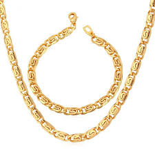wholesale necklace set images Trendy necklace set men jewelry wholesale gold color snail chain jpg