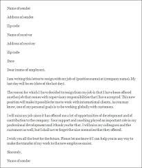 resignation letter sample basic resignation letter notice