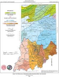 Printable Map Of Indiana Indiana Landforms Map Afputra Com