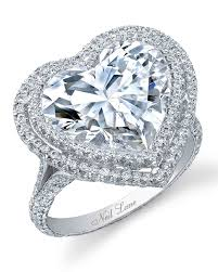 heart rings diamond images Heart shaped engagement rings martha stewart weddings jpg