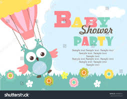 Baby Shower Invitations Card Baby Shower Invitation Card Stock Vector 248988151 Shutterstock