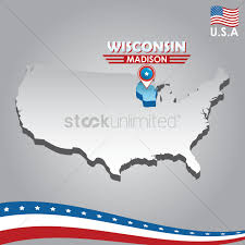 Usa Map Vector by Usa Map Puzzle One Stateone Puzzle Piece Wisconsin Madison