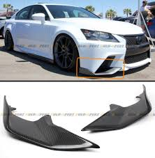 2014 lexus is350 jdm 2 pc jdm carbon fiber front bumper splitters lip for 2013 15 lexus