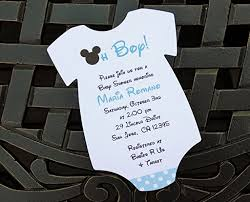 baby boy baby shower invitations set of 10 blue mickey mouse baby shower invitations