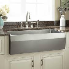 large stainless steel farmhouse sink signature hardware 36