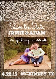 burlap and lace rustic save the date on luulla