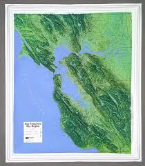 san francisco map painting san francisco bay raised relief map 3d map of san francisco bay area