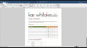 Setting Smart Goals Worksheet Smart Goals Worksheet Walkthrough Youtube