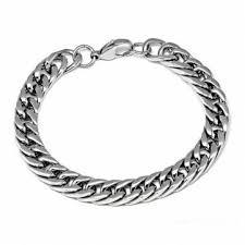 men jewelry bracelet images Korean sliver titanium steel thick chain bracelet men jewelry us jpg