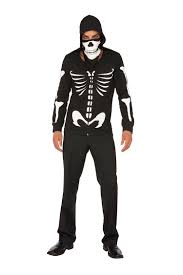 halloween costume fbi agent find dustin bones glow in the dark 2 pc costume includes zip