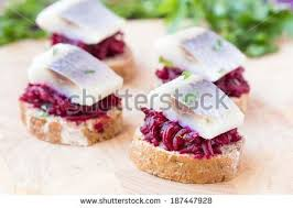canape toast canape herring beets on rye toast stock photo 100 protection