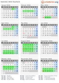 Kalender 2018 Mit Feiertagen Saarland Kalender 2016 Ferien Saarland Feiertage