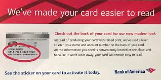 Bank Of America Change Card Design Boa Cash Rewards Numbers Are Now Laser Etched Myfico Forums