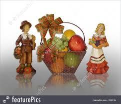 thanksgiving fruit basket thanksgiving pilgrims and fruit basket illustration