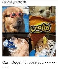 Top Doge Memes - choose your fighter corn doge i choose you doge