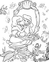 mermaid coloring pages princess ariel 45601