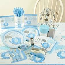blue baby shower decorations elephant themed party planning ideas supplies baby showers