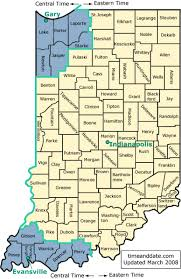 Indiana State Map Indiana U0027s Time Zones And Daylight Saving Time Dst