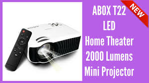 best new abox t22 led home theater 2000 lumens mini projector 2017