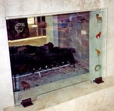 glass fireplace screens home decorating interior design bath