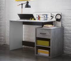 bureau enfant gris bureau blanc et gris béton board lestendances fr