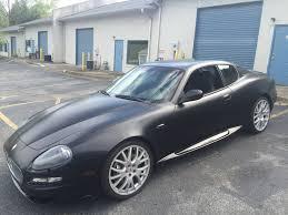 maserati gt matte black maserati u2013 satin black color change with gloss black accents car