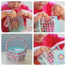 craft quick fourth of july craft red white u0026 blue berry basket
