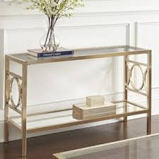 glass mirrored console table glass mirrored console tables you ll love wayfair