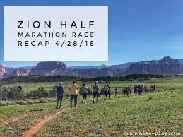 tunnel light marathon 2018 run hike play zion half marathon race recap 4 28 18