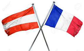 Austria Flag Austria Flag Combined With France Flag Stock Photo Picture And