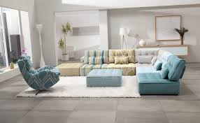 square tufted floor cushion couches in diverse patterns and colors