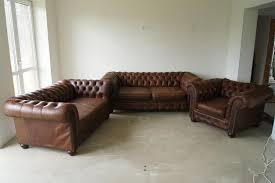 Leather Living Room Sets For Sale Chesterfield Leather Living Room Set 1960s For Sale At Pamono