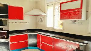 comptoir de cuisine noir cuisine moderne noir avec comptoir tlemcen cuisine