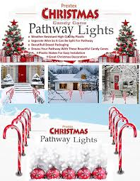 Candy Cane Outdoor Decorations Amazon Com Prextex Christmas Candy Cane Pathway Markers Set Of