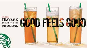 new teavana shaken iced tea infusions starbucks coffee company