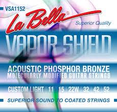 vsa1152 vapor shield acoustic guitar strings custom light 11 52
