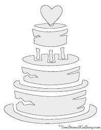 wedding cake outline wedding cake stencil free stencil gallery
