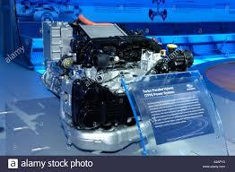 subaru engine turbo subaru turbo parallel hybrid power system engine on display at the