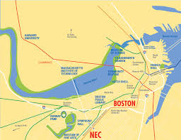 Map Of Boston Harbor by Campus Map New England Conservatory