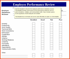 employee review form sop format example