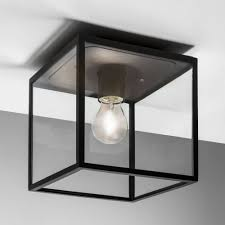 Exterior Ceiling Light Astro Lighting 7389 Box Black Exterior Ceiling Light