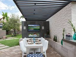 Tv In Dining Room 26 Outdoor Dining Room Designs Decorating Ideas Design Trends
