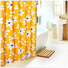 Curtains Extra Long Yellow Flowers Shower Curtains Extra Long Shower Curtain For