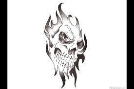 sharp teeth snake and skull tattoo design photo 2 photo